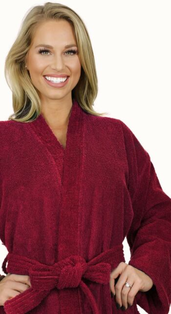 9b39383d9d Terry Cloth Bathrobe Mens Womens Robe Kimono 100 Turkish Cotton ...