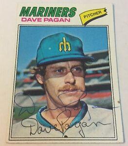 1977 Topps Dave Pagan Signed Autograph #508 Baseball Card