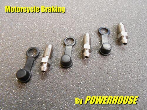3x M7 x 1.0 mm Stainless Steel Bleed Screw set Honda Kawasaki Suzuki Yamaha