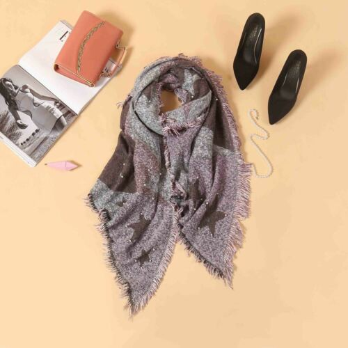 Ladies  Long ChunkyShawl Knitted Wool look Scarf Womens Winter Fashion Accessory