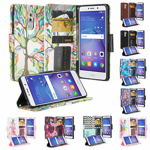 Huawei-Honor-6X-Huawei-Mate-9-Lite-Case-Faux-Leather-Flip-Fold-Wallet-Cover