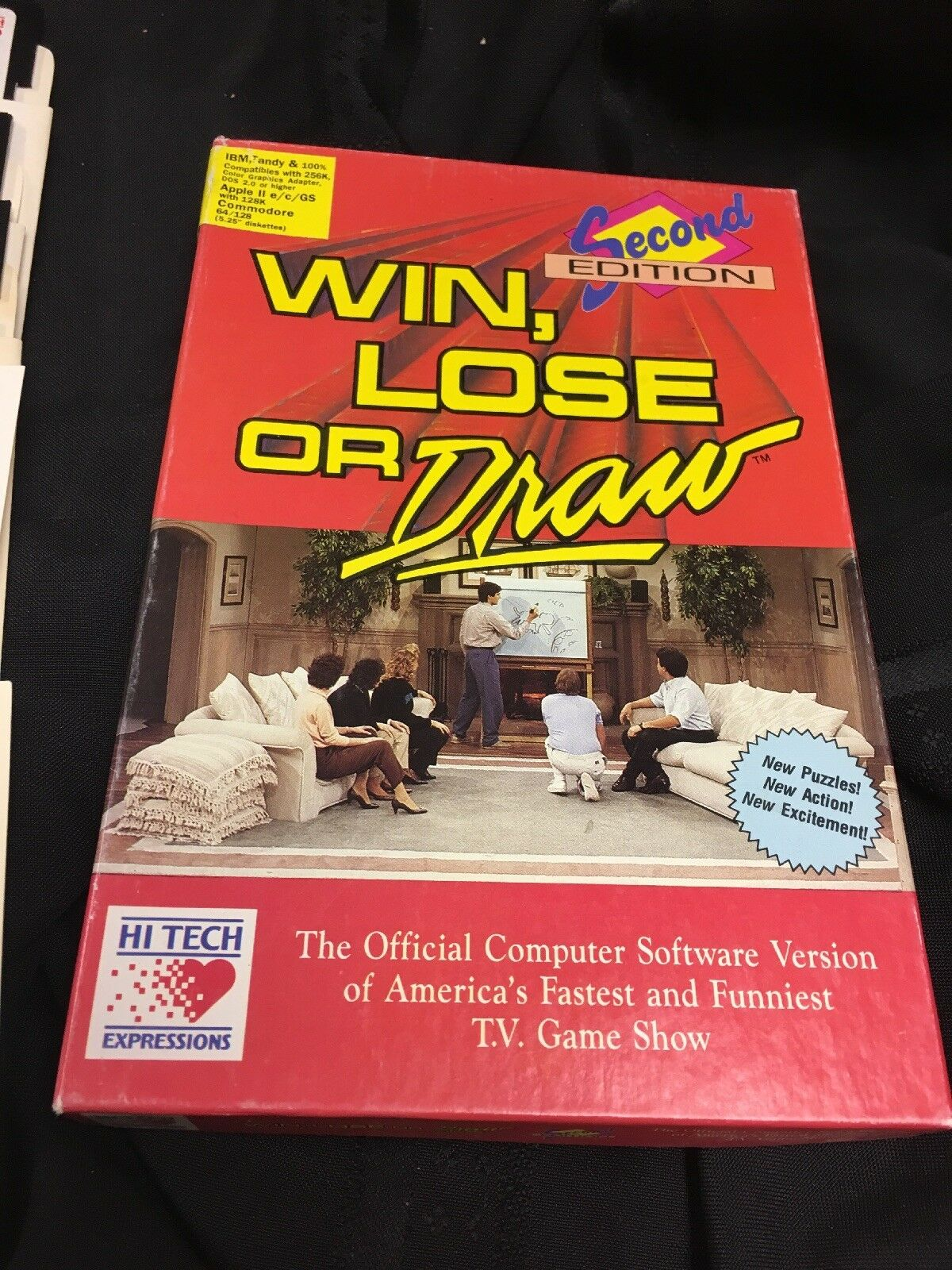 "Vintage Win Lose or Draw 1990 Computer Game IBM (3) 5"" Disk,apple,commodore"