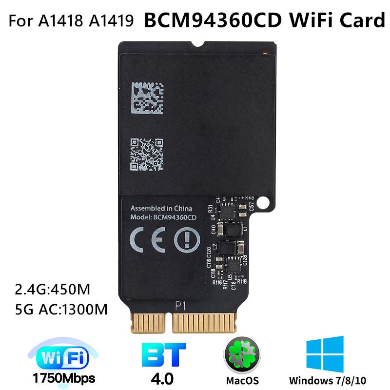 Dual Band BCM94360CD wifi card 1750Mbps 802.11ac wifi Bluetooth 4.0 BCM94360CD