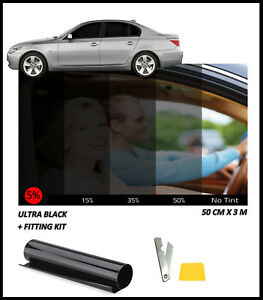 Light /& Ultra Light Car Auto Tint Window Tinting Film 5/% Limo Black 7mx76cm Medium Active Film Limo Black