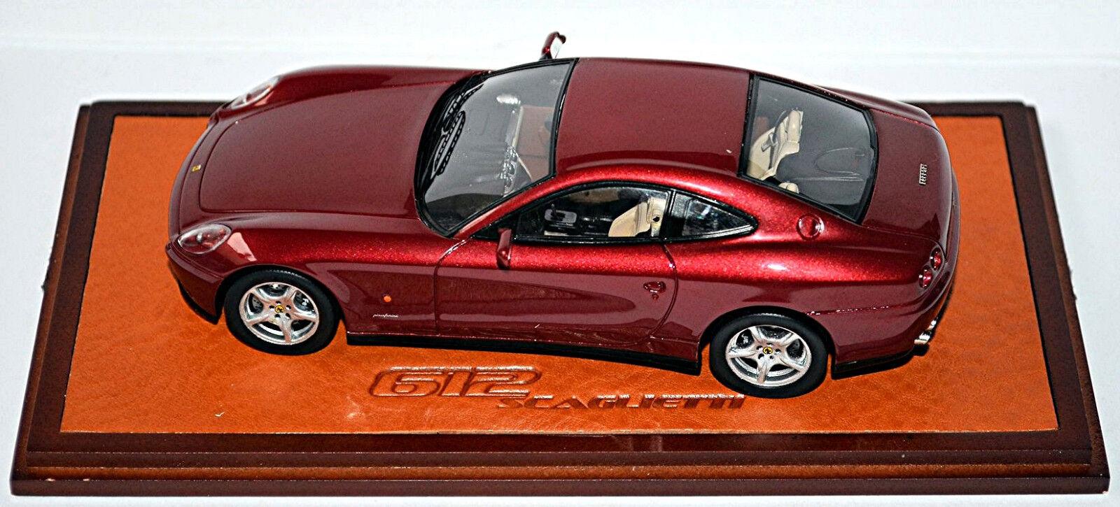 Ferrari 612 Scaglietti Coupé 2004-10 rouge rouge métallisé 1:43 Rouge  Line   Jolie Et Colorée
