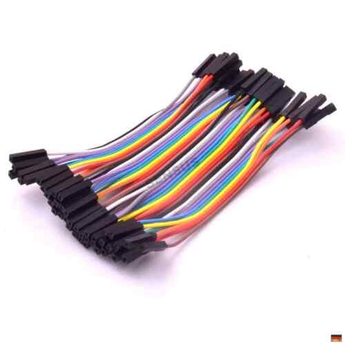 40p 10cm Jumper Wire Socket Connector Bridge Board Cable Male Female Male Wei...