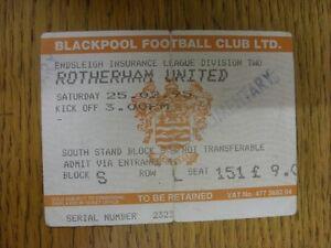 25-02-1995-Ticket-Blackpool-v-Rotherham-United-Stamped-039-Complimentary-039-folde