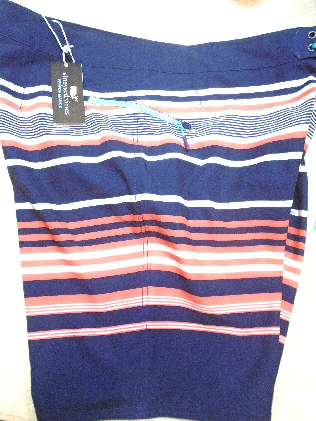 Vineyard vines Board Shorts Americana Stripe Pattern Swim Trunk NWT 40