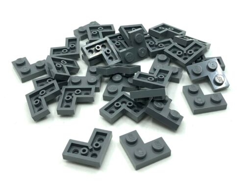 LEGO 30pcs NEW Dark Grey Corner Plate Bulk Lot 2420 4210635