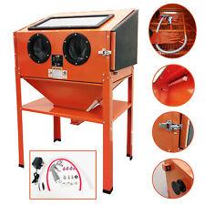 M2S Sand Blasting Cabinet Abrasive Bead Grit Blaster Sandblaster 220L Orange