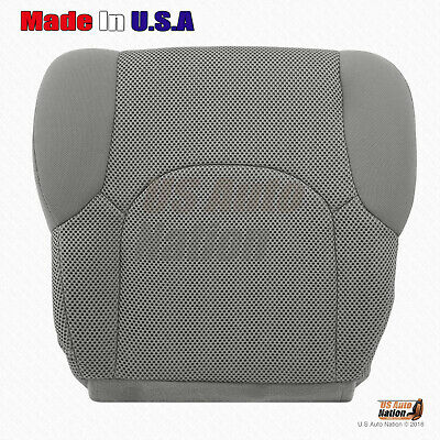 For 2005 to 2019 Nissan Frontier S Crew-Driver Side Bottom Cloth Seat Cover Gray