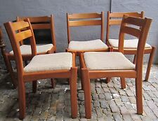 dyrlund 6 Stühle Teak massiv dining chairs danish design mid century