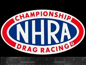NHRA-National-Hot-Rod-Association-Drag-Racing-Original-Vintage-Decal-Sticker-L