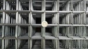 5 panneaux en grillage soudés galvanisés 96 2 5x Galvanised Welded Wire Mesh Panels 96 2