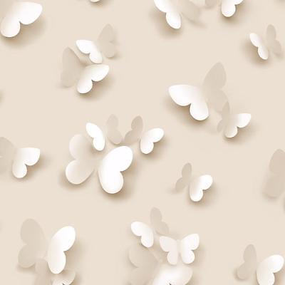 NEW MURIVA BUTTERFLY BUTTERFLIES PATTERN MOTIF DESIGNER WASHABLE WALLPAPER ROLL