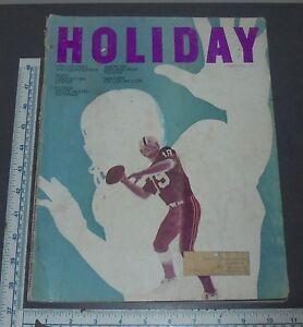 HOLIDAY-MAGAZINE-1968-OCT-FOOTBALL-SOHO-BOURBON-WHITE-HOUSE-BILLIARDS-GREAT-ADS