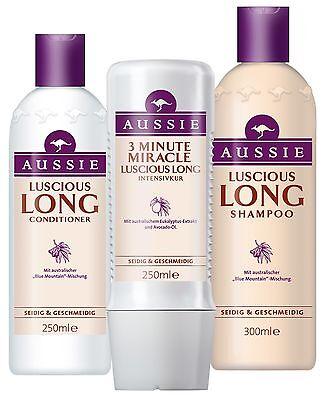 3pack Aussie LUSCIOUS LONG: Shampoo + Conditioner + 3min Deep Treatment