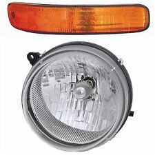 2002 - 2004 JEEP LIBERTY HEADLIGHT & SIGNAL LAMP LIGHT RIGHT PASSENGER SIDE ONLY