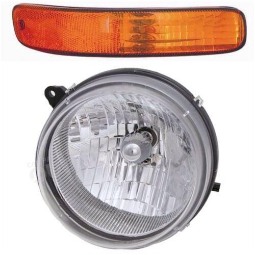 FOR JEEP LIBERTY 2002 2003 2004 HEADLIGHT /& SIGNAL LAMP LIGHT RIGHT PASSENGER