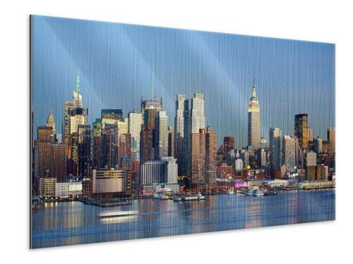 Wandbild Skyline Midtown Manhattan Leinwand Acrylglas Aluminium Metallic Hartsch