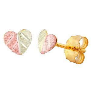 Black-Hills-Gold-heart-earrings-womens-ladies-10k-post-style