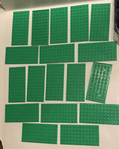 LEGO New X12 Bright Green Plate 6x12 Building Plates Bulk Lot Part #3028