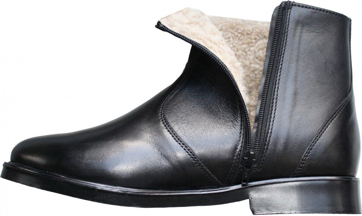 Winterstiefel Stiefelette lammfellstiefel Stiefel aus echtleder Lammfell Schwarz