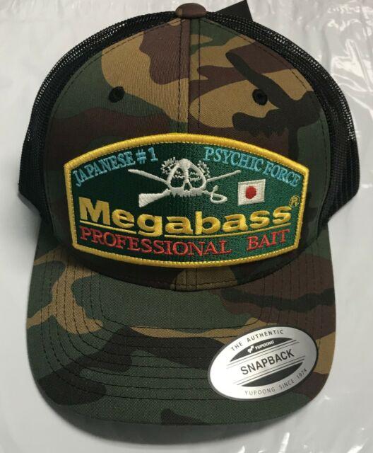 b95dff963 Megabass Throwback Hat Snapback Logo Fishing Cap Mens OSFM Black