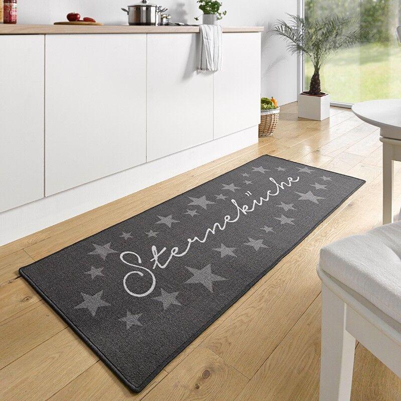 Design Velour Corsia Cucina Cucina Stella Grigio 67x180 cm 102369