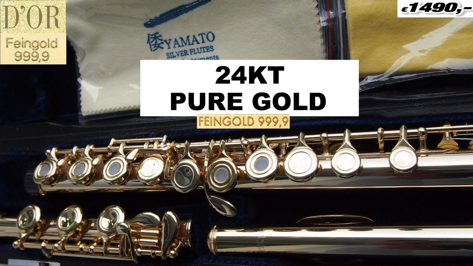 Querflöte Profi Gold 999 24 Kt Flute professionell 24kt Gelb gold ALLERGY FREE