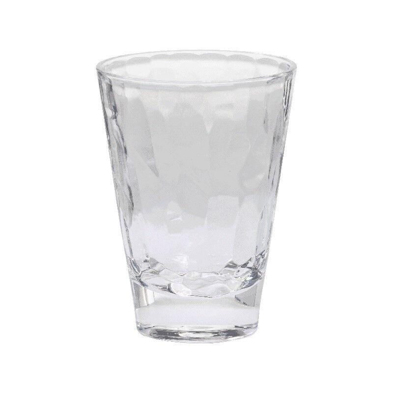 MERRITT CASCADE CLEAR 14 OZ ACRYLIC TUMBLERS - SET OF FOUR PATIO POOL GLASSES