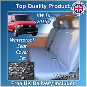 VW T5 T6 Transporter Kombi 2003-2009 Rear 3-Seat Bench Grey Tailored Seat Cover