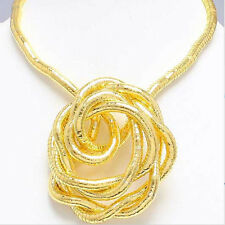 5mm 90cm Gold Plated Iron Flexible Bendy Snake Bendable Necklace,6pcs/pack