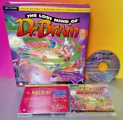 Brain CD-ROM Ages 12 TO Adult Sierra The Lost Mind of Dr
