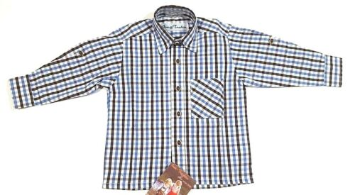 Isar Trachten Hemd vier Farben Gr 74 bis 176 100/% Baumwolle