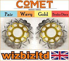 COMET Pair Black Wavy Front Brake Discs Honda CBR 600 F3//F4//F5//F6 03-06 W918BK