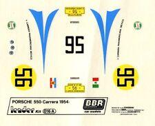 PORSCHE 550 RS  N°56 MEXICO CARRERA  PANAMERICANA 1954  BBR DECALS 1/43