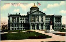 TOLEDO, Ohio  OH   Front View  LUCAS COUNTY COURT HOUSE  c1910s   Postcard