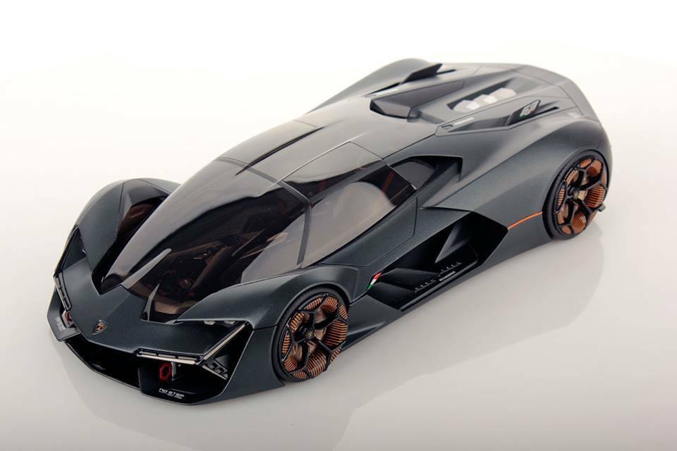 MR Collection Lamborghini Terzo Millennio Matt grau with Showcase 1 18