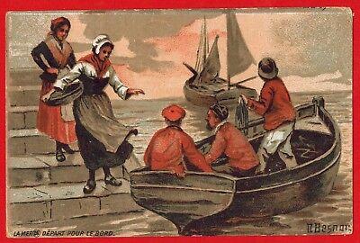 Koop Goedkoop Chromo-la Mer.départ-p.mairesse-chicorée à La Française-illust.besnou-r.225
