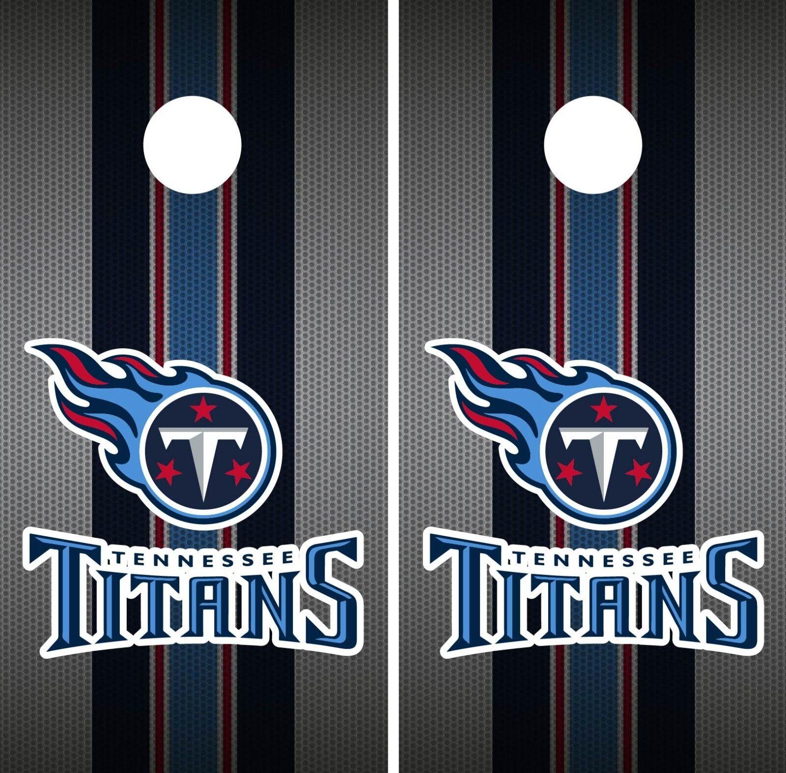 Tennessee Titans Cornhole Wrap NFL Team Flag  Skin Game Board Set Vinyl Art CO148  support wholesale retail
