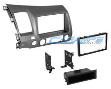 06-11 CIVIC TAUPE SINGLE OR DOUBLE 2 DIN CAR STEREO INSTALLATION DASH TRIM KIT