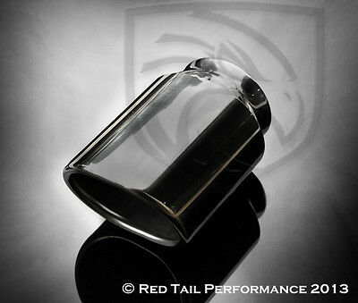 "RTP Exhaust Muffler Tip  Oval Angle Two Wall 2.25/"" Inlet 2.75x3.20/"" OD CLEARANCE"