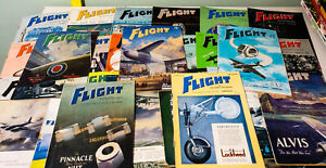 Lot-of-23x-Flight-and-Aircraft-Engineer-Rare-1940s-1960s-Vintage-Magazines
