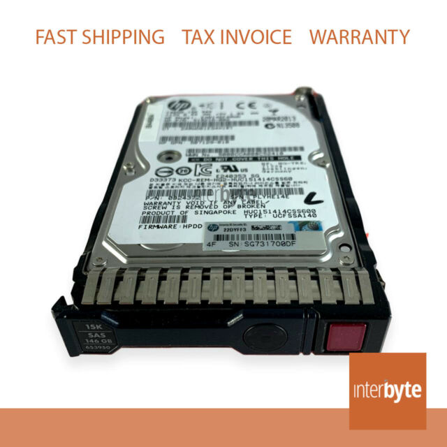 HP 652605-B21 HDD 146GB 15K SAS 6GB 2.5 SC G8 652599-002 653950-001 SFF