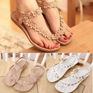 Women-Bohemia-Floral-Flat-Shoes-Beach-Sandals-Thongs-Slipper-Open-Toe-Flip-Flops