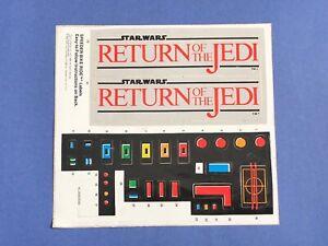 RARE-Star-Wars-ROTJ-Scout-Walker-Command-Tower-SPEEDER-BIKE-Sticker-Sheet-1984