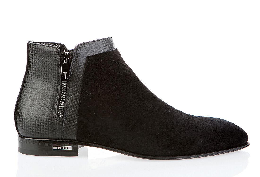 consegna gratuita e veloce disponibile Authentic Loriblu Leather Leather Leather Italian Designer scarpe New Dimensione 44  in vendita
