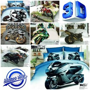 4c7f255866c UK Standard Size 100% Cotton 3D Photo Moto Sport Car Bedding Set ...