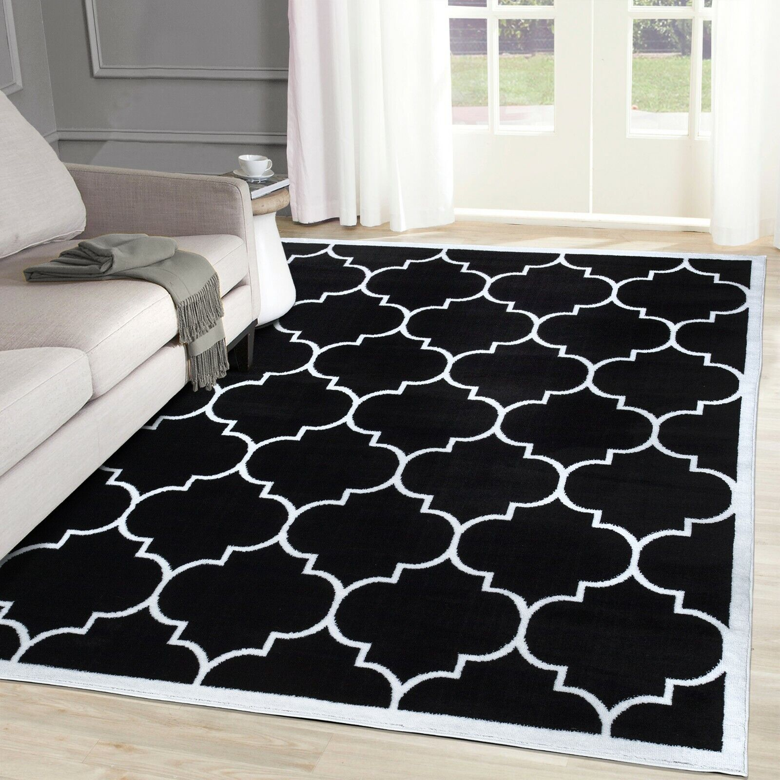 A2z Rug Black White Living Room Rug Small Large Bohemian Bedroom Large Area Rugs For Sale